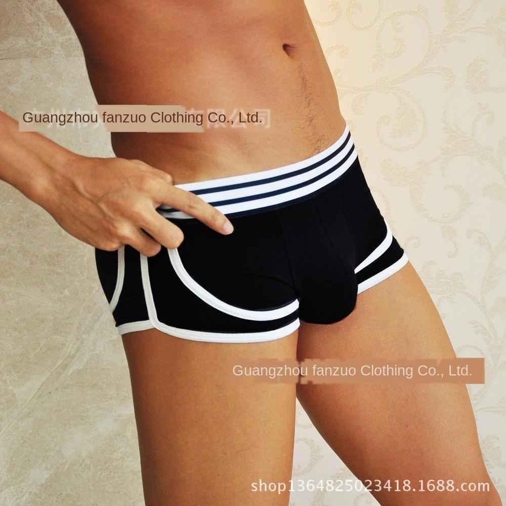 Nuovo mutande mutande di cotone biancheria intima del pugile vita bassa traspirante biancheria intima maschile sexy di modo retrò da uomo