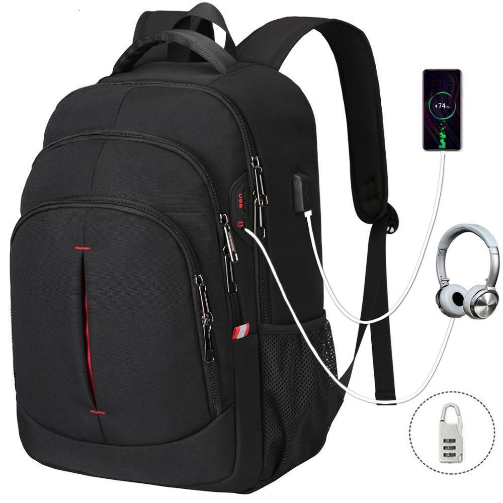 XQXA erkek su geçirmez sırt çantası, şık iş seyahat sırt çantası, çok işlevli laptop çantası 15,6 inç