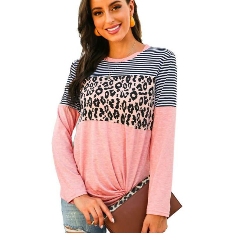 Le donne magliette con motivi di moda Autunno Primavera Felpe per Lady Casual donna Tee Shirt supera il formato S-2XL