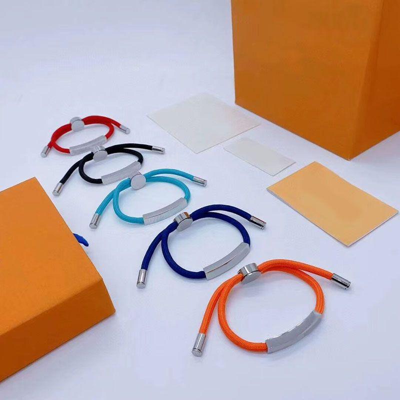 Unisex Bilezik Moda Paslanmaz Çelik Mektup Bilezikler Adam Kadınlar Için Takı Ayarlanabilir Bilezik Takı Hediye 5 Renkler