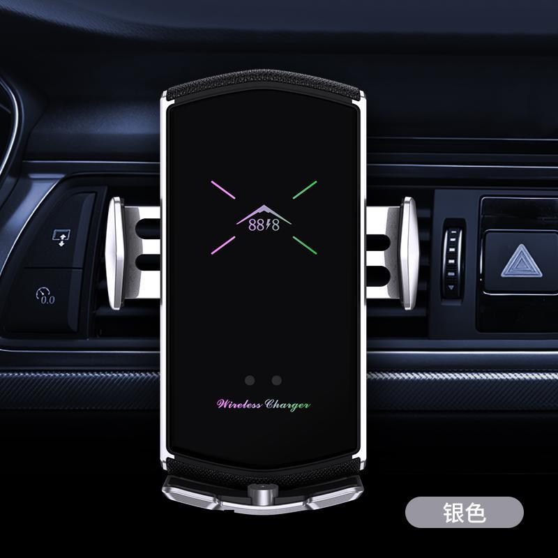 Titular do carro E6 Carregador de carro sem fio Automatic Clamping para iPhone Android Air Vent Tither Telefone 360 Graus Rotação Revisão rápida