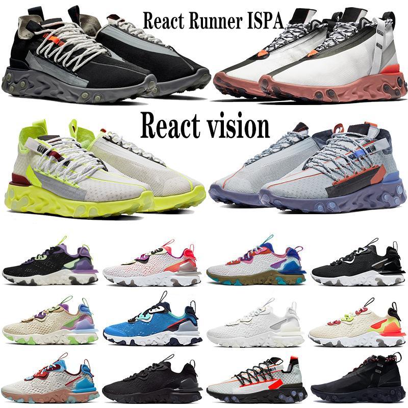 Reagir visão tipo Runner ISPA Mid WR White Light carmesim homens mulheres tênis triplo favo de mel preto Desert Oasis treinadores esportivos de tênis