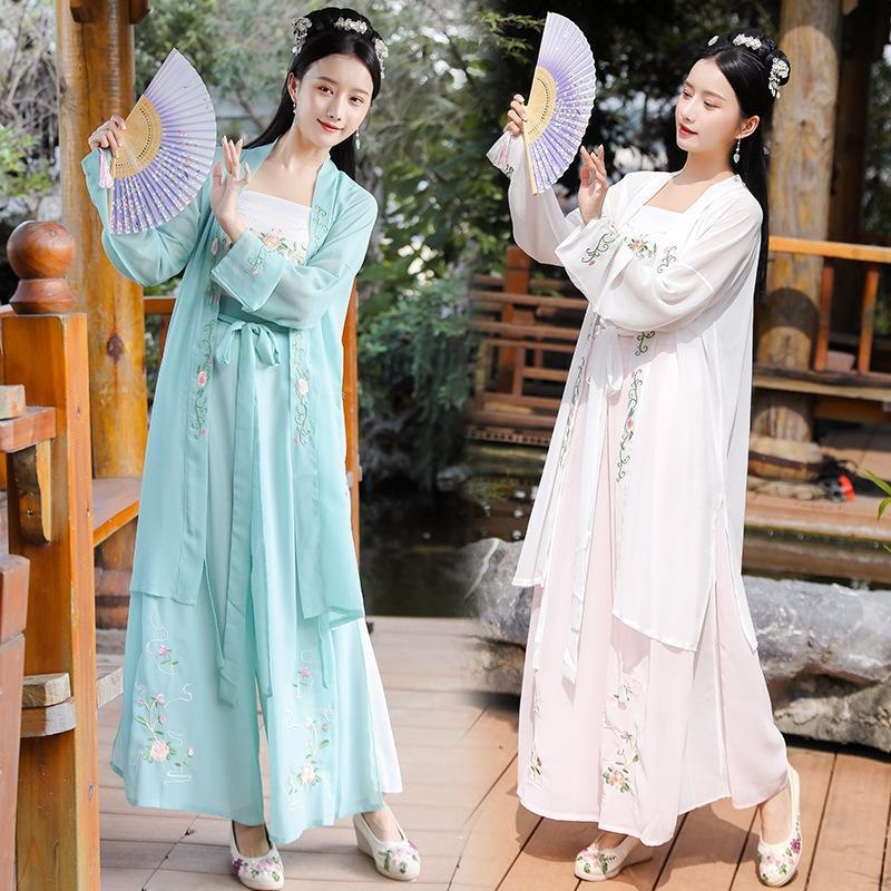 eEDHo 2020 cinesi di abbigliamento song-made canzone in stile tre pezzi stile estivo servizio medio vestito servizio cinese medio giornaliero delle donne