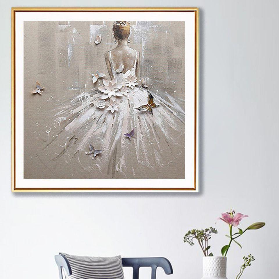 """Completa Square / Rodada broca de diamante bordado 5D DIY diamante Pintura """"Menina do bailado"""" Cross Stitch Mosaic Imagem de Pedrinhas Decor"""