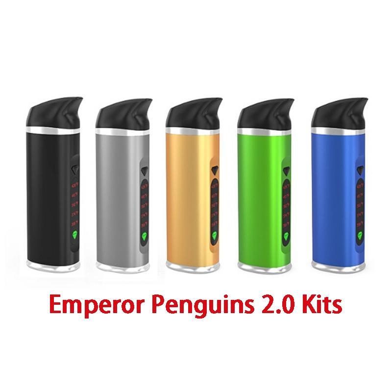 Autentica Pinguini imperatore 2.0 Versione Kit vaporizzatore secco Herb Dab Pen 2200mAh Controllo di temperatura fumatori Vape Pen 100% originale