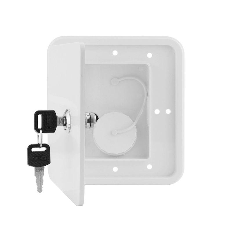 Caravan Square Hatch Cover Gravity Inlet Rugged and Leakproof Easy to Install RV Water Filler Accessories