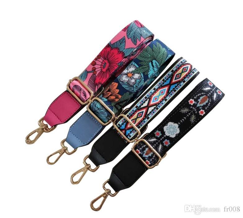 75 / 130cm bracelet en nylon bohémiennes Imprimer multi 4 couleurs sac de remplacement réglable ceinture sac bandoulière sac à main bandoulière