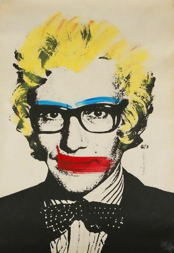 Mr Brainwash Graffiti-Kunst Yves Wohnkultur Handbemalte HD-Druck-Ölgemälde auf Leinwand-Wand-Kunst-Leinwandbilder 200815