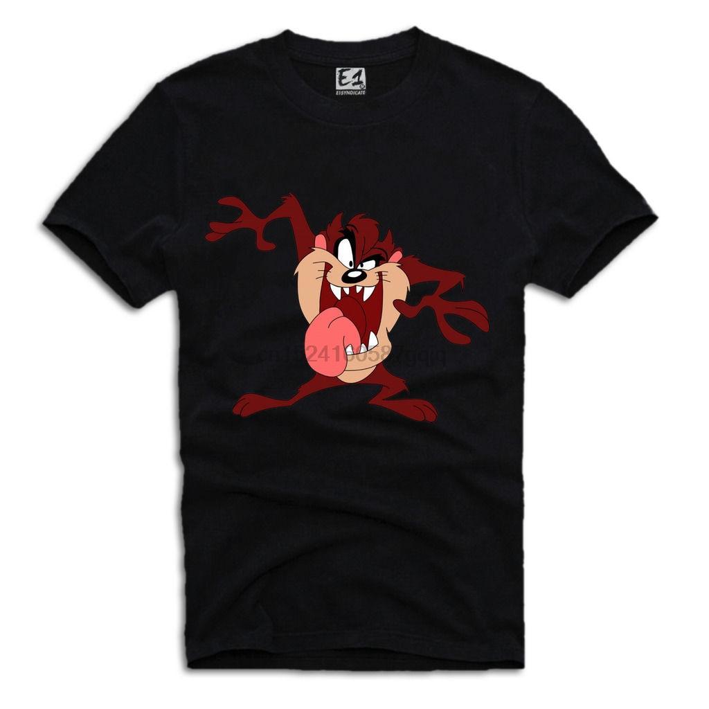 Tasmanian Devil T-Shirt Taz Coyote Looney Tunes Cartoon Cartoon T Shirt Men Unisex New Fashion Tshirt Loose Size