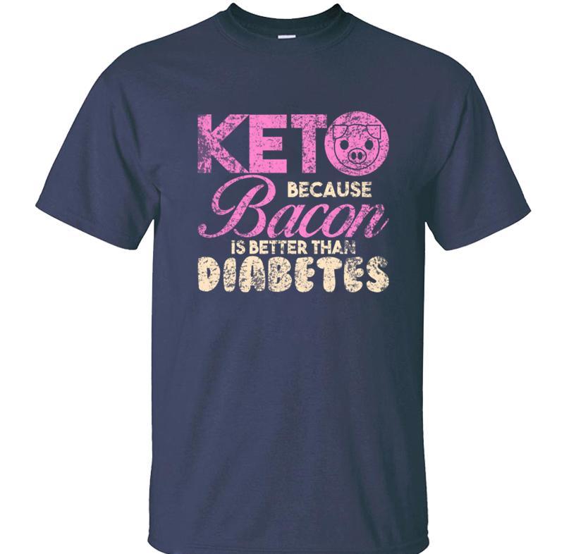 Drucke Keto-Diät Speck-T-Shirt T-Shirt für Herren Herren T-Shirt Basic Solideer Baumwolle Einfach kühlen männlichen Aufmaß 5xl 2020 Hip Hop