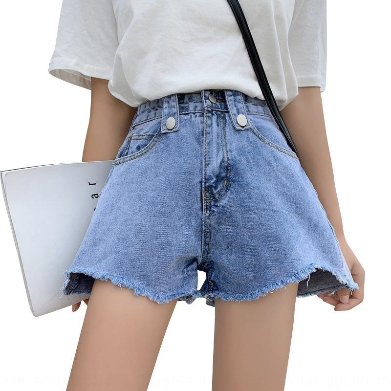 vSKUh JaWNW Denim 2020 des Sommers der Frauen Kurzschlusshosen Größe Fett Shorts Hot Pants mm hohe Taille schlank lose Allgleiches breite Bein ein förmigen heißen lar