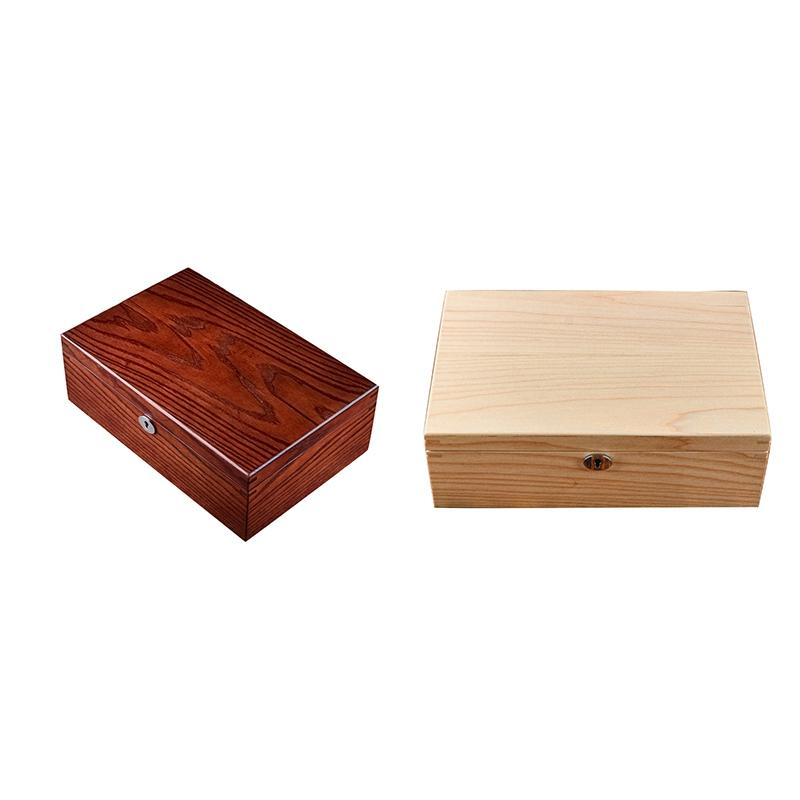10 Слоты Wood Watch Box с блокировкой новых людей деревянных корпуса часов хранения Браун Показать коробки ювелирных изделий подарочной упаковки