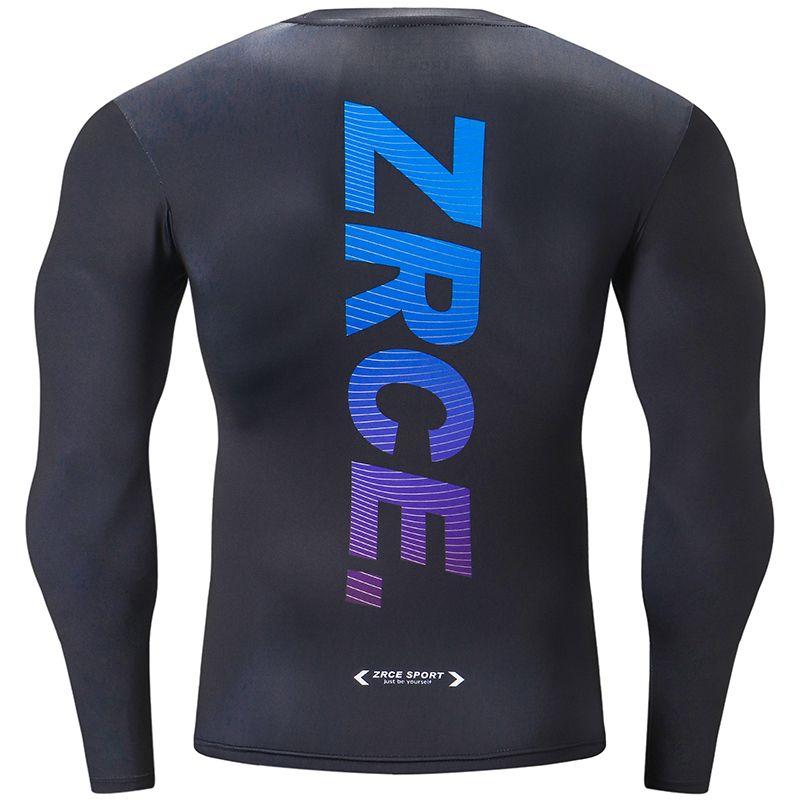 3D Imprimé séchage rapide compression à manches longues Gym Sport Fitness en plein air Jogging Vélo shirt exercice T-shirt Jersey Tops Vêtements de sport