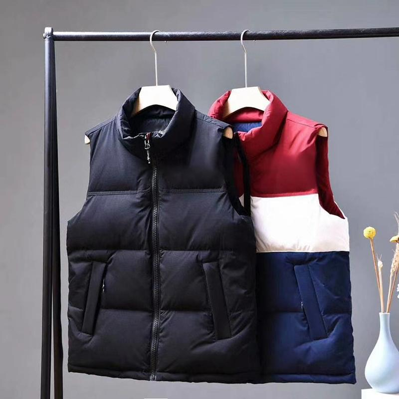 Uomini senza maniche giù ricoprono maglia di inverno Zipper casual giacca invernale donne degli uomini del cappotto di modo del rivestimento della maglia delle parti superiori S-3XL