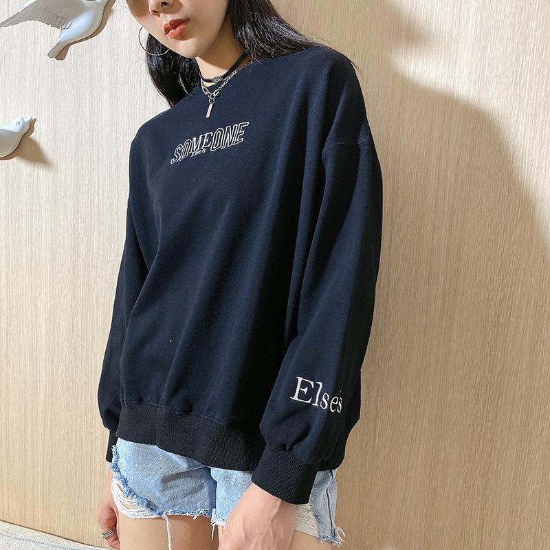 RaGao coat 2020 moda casual grande impresso sweater casaco tamanho de letra camisola das mulheres dos solta do outono mulheres ZtYM5