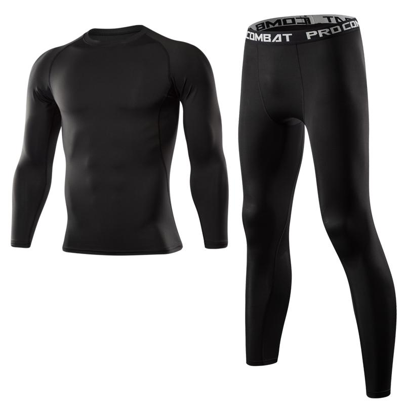 Hommes Gym Fitness Vêtements hommes de course Set de sport rapide Costumes de compression à sec Tight Sport Fitness Combinaison Homme de plein air Jogging