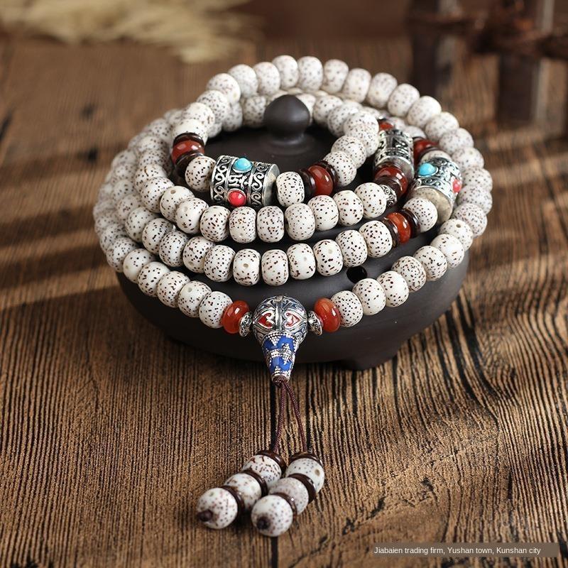 Pure Natural Hainan Samen Stern Mond Perlen Bodhi Buddha Perlen Armband 108 ersten Monat mit hoher Dichte Trockenmahlung Bodhi Armband DAEOb