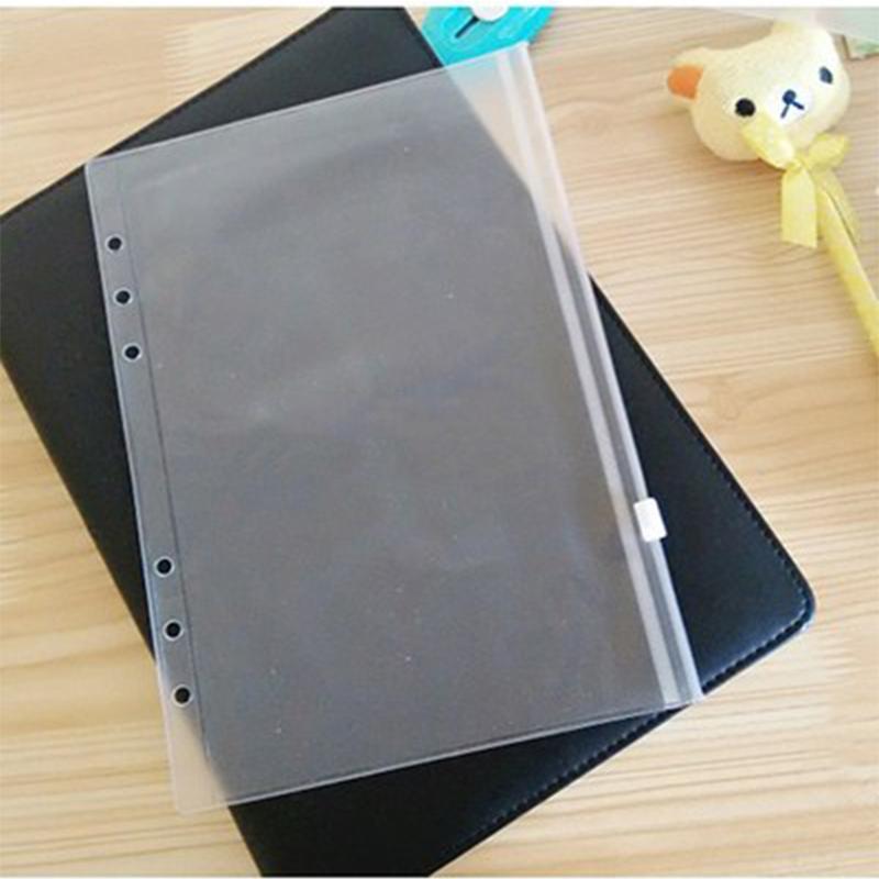 Großhandel Notebook A6 Transparent-Speicher-Beutel ungeheftetes Kunststoff PVC-Reißverschluss-Einzel Insert Visitenkarte Bill Datei-Bag