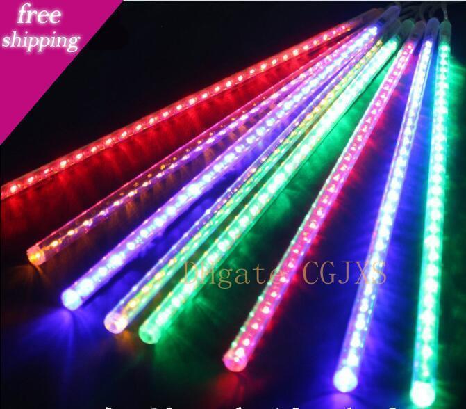 Праздничные огни Водонепроницаемый метеорного дождя трубы светодиодные лампы 100 -240v Рождество свет шнура Свадебные украшения сада