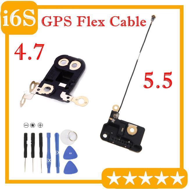 cgjxsOrigina Gps Flex кабель для Iphone 4 6S +0,7 6s Plus 5 0,5 Gps сигнала Антенна Flex ленточный кабель Ремонт 1шт части / серия