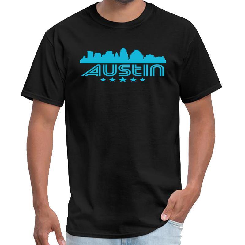 Vintage Retro Austin Skyline Wochenende Täter T-Shirt Männer und Frauen Shirt T-Shirt große Größe s ~ 5xL Tee oben