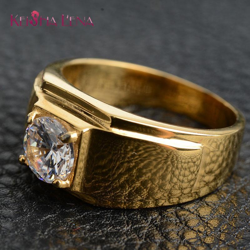 Anneaux de mariage Charm Amants en acier inoxydable Anneau Homme Bijoux Mode Bijoux Bijoux Bijoux Cubic Zirconia Engagement pour