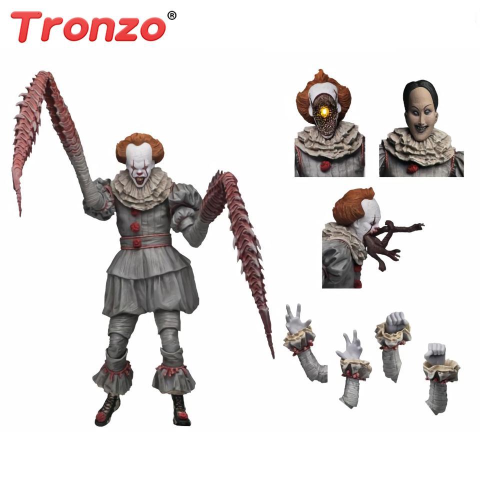 Tronzo NECA ultimative Pennywise Der Tanzen Clown PVC Action-Figur Modell Spielzeug Horrorfilm IT Figuren für Halloween