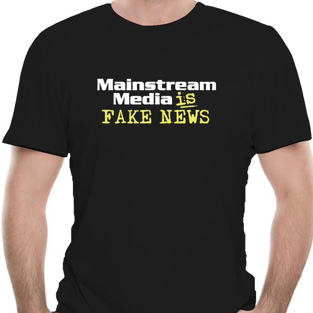 Mainstream-Medien ist Gefälschte Nachrichten T-Shirt Ermüdet von Corporate Media Lügen-1091a