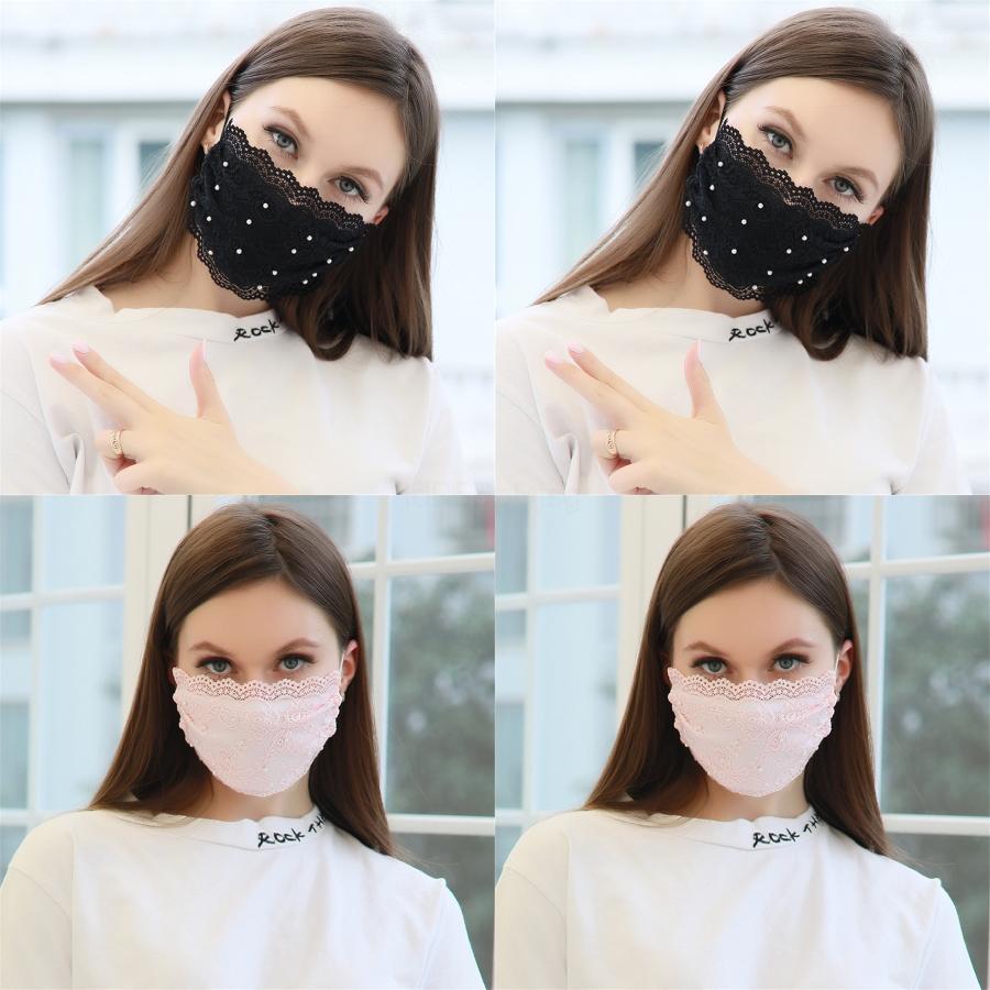 Вентиляция для взрослых маска Печать волновой точки Дыхание Рот Face Mask Респираторы Лето Солнцезащитный моющийся Барьер 2 4Gy UU # 222