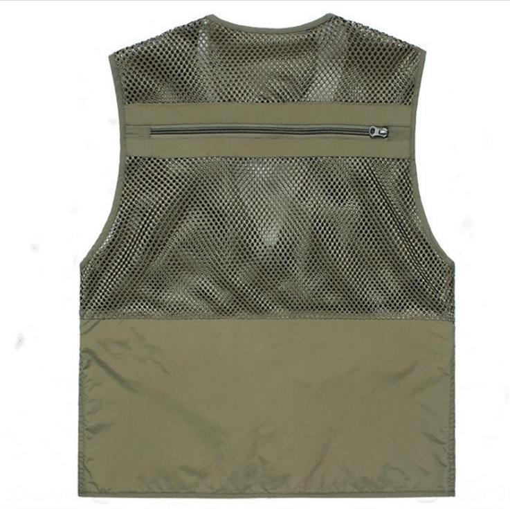 8IuZ2 Green summer thin men's outdoor advertising photography loose multi-pocket quick-drying waistcoat Green summer thin vest men's outdoor