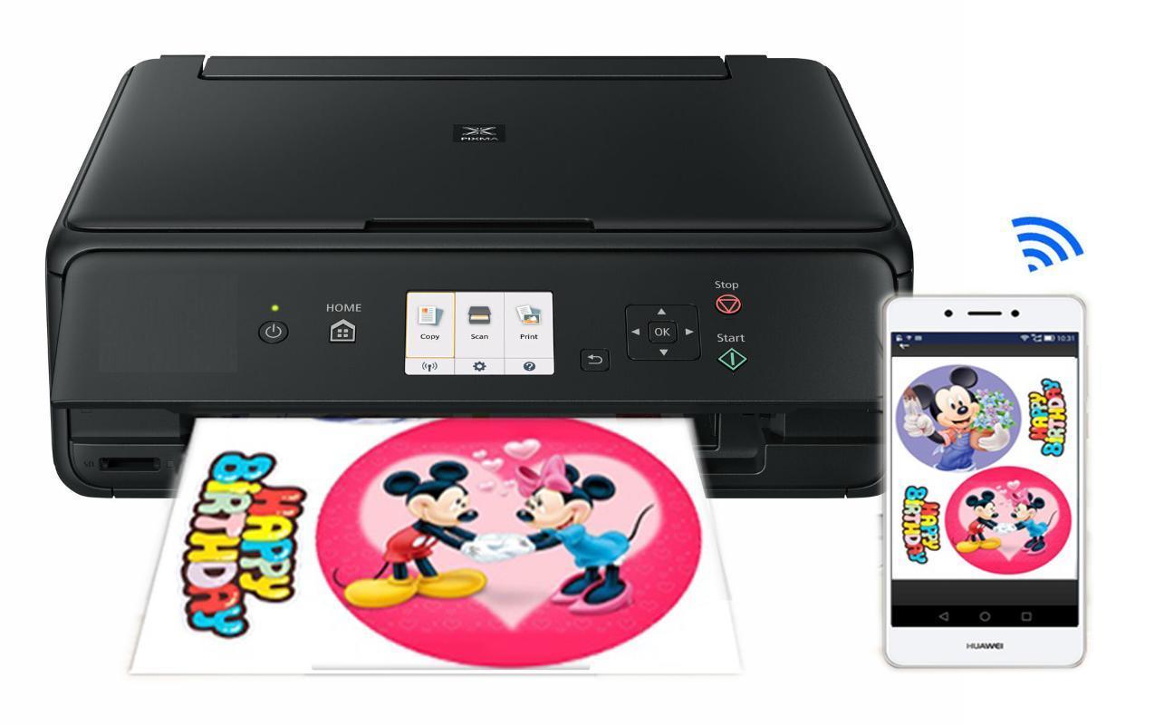 식용 잉크 카트리지 종이와 케이크 초콜릿 롤리팝의 경우 Lxhcoody 캐논 TS5060 케이크 프린터 기계 A4 프린터