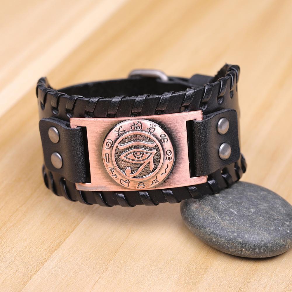 TYHpL mode vache brune Myth Horus oeil cortidum mode vache brune Mythe oeil magique Horus cortidum cadeau bracelet cadeau bracelet magique
