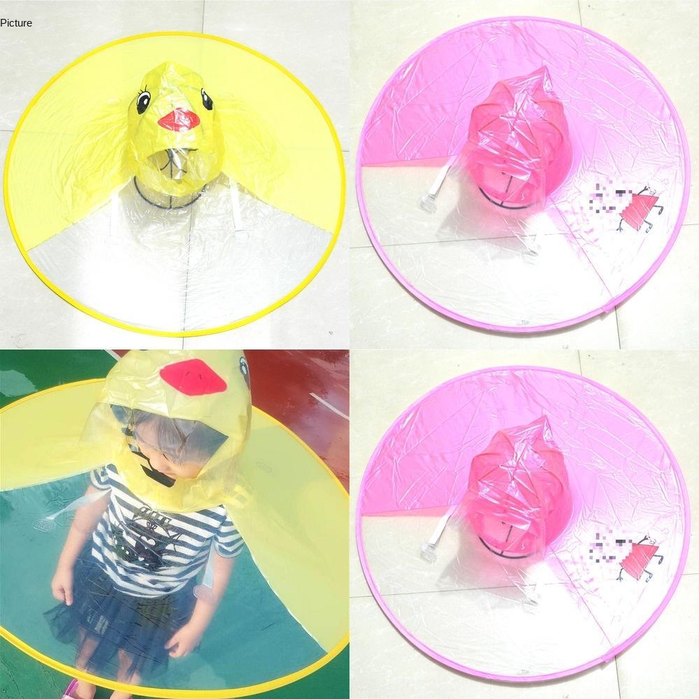 Baby-gelbe Ente Mantel UFO Regenmantel Außenmantel transparent wasserdichte Regenjacke mit TikTok