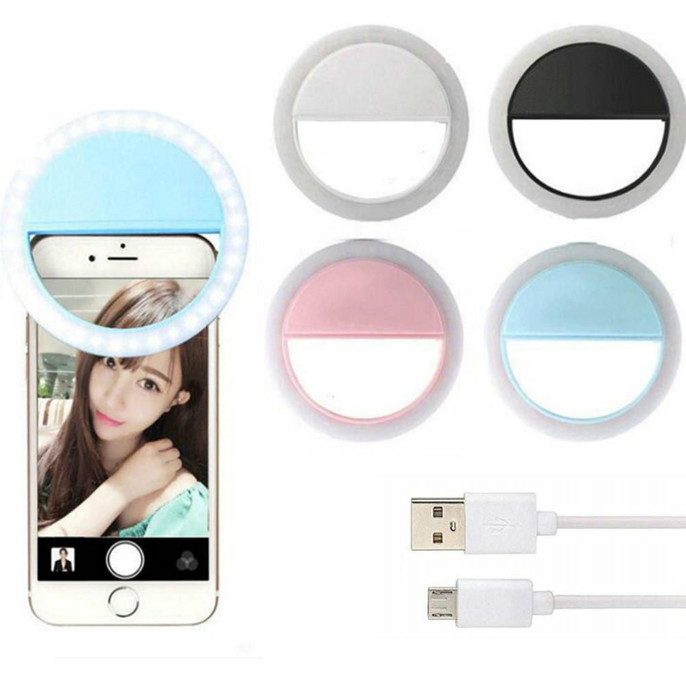 USB LED Selfie Anel Luz Portátil Photography Luzes para Smartphone Computador Selfie Melhorando Lâmpada De Preenchimento