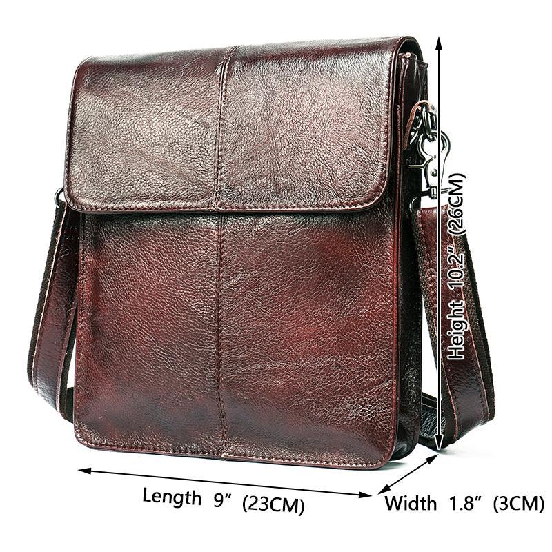 WESTAL mens bags genuine leather shouler bag for men messenger bag mens crossbody handbag mens shoulder bag flap zipper bags