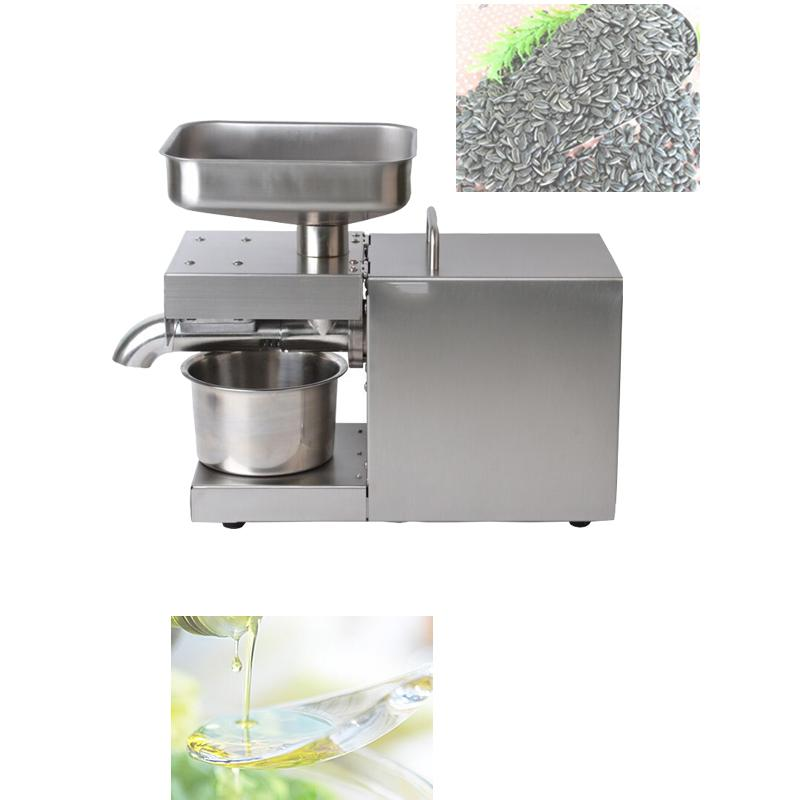 Presser Cold hot Oil Press MachineFlaxseed Oil Extractor peanuts,sunflower seeds almonds oil