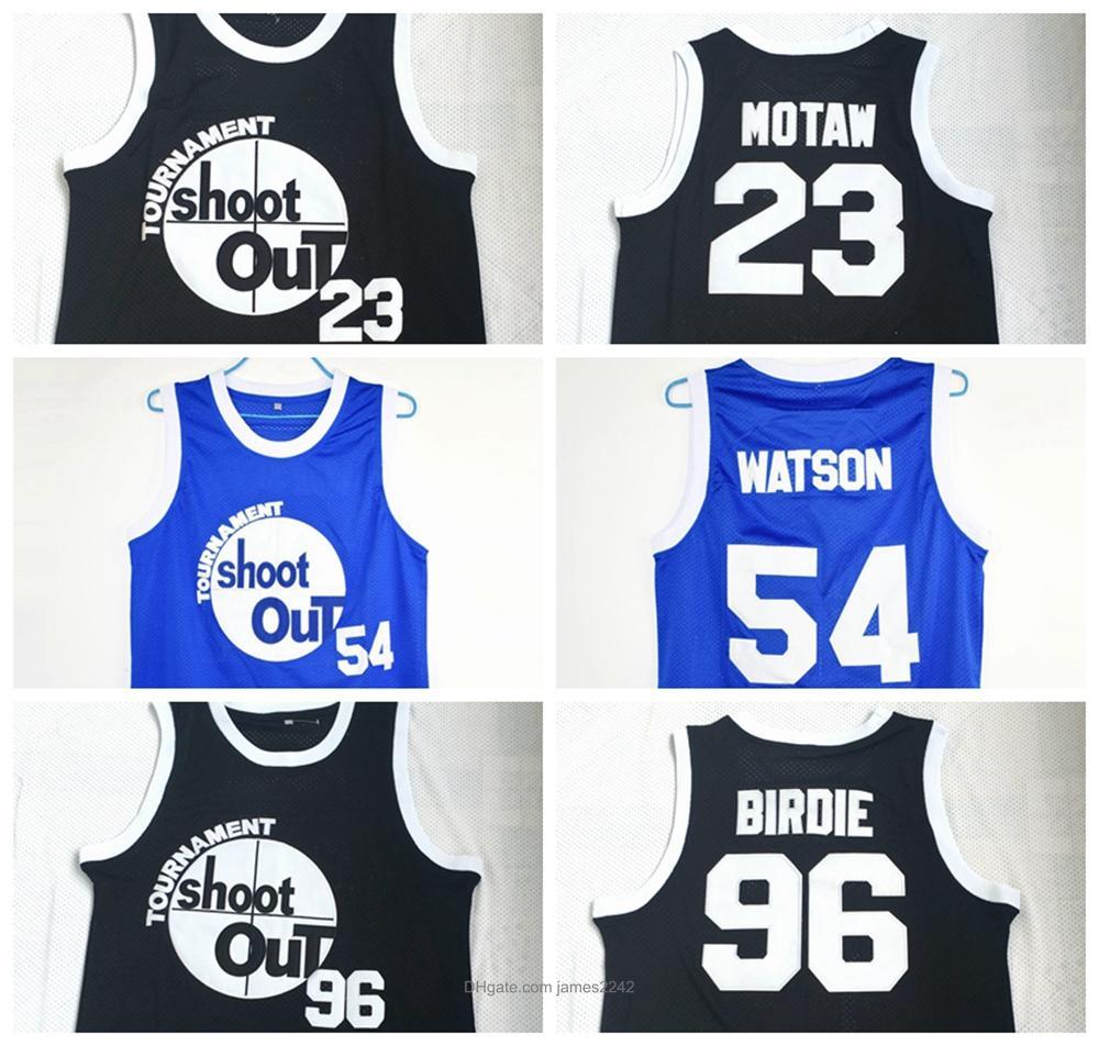 Kyle Watson Basketball Jersey Duane 54 Motaw Wood 23 Birdie Tupac 96 Tournoi Tirez au-dessus du film Costume de jante Stichée de qualité supérieure