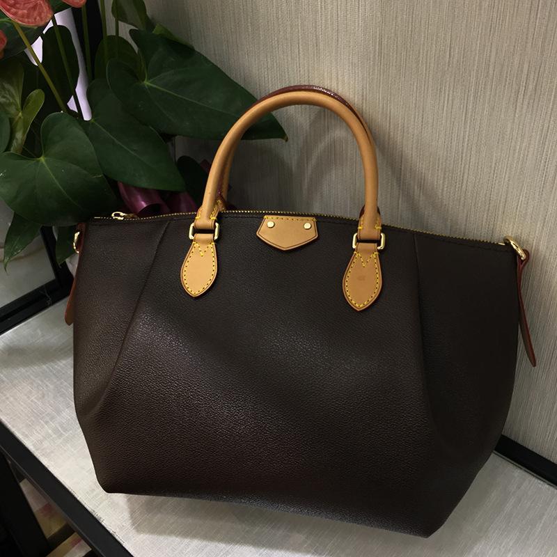 ladies European and American style leather solid color shoulder bag high quality fashion handbag designer casual crossbody bag.