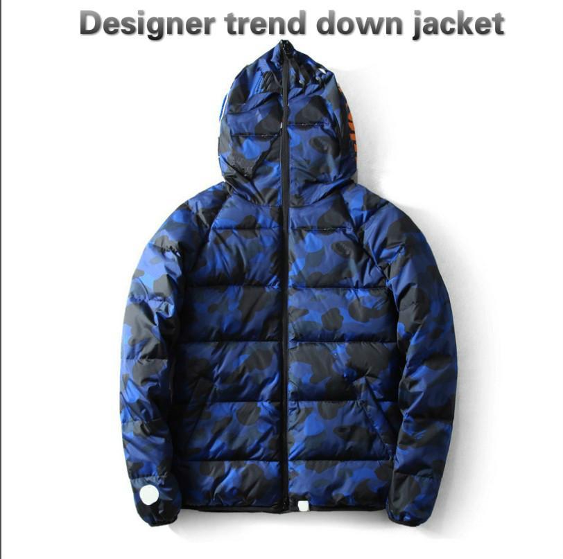 20fw мужская куртка зима новая высококачественная камуфляж повседневная толстая хлопчатобумажная одежда мода Trend письмо печати мужская куртка