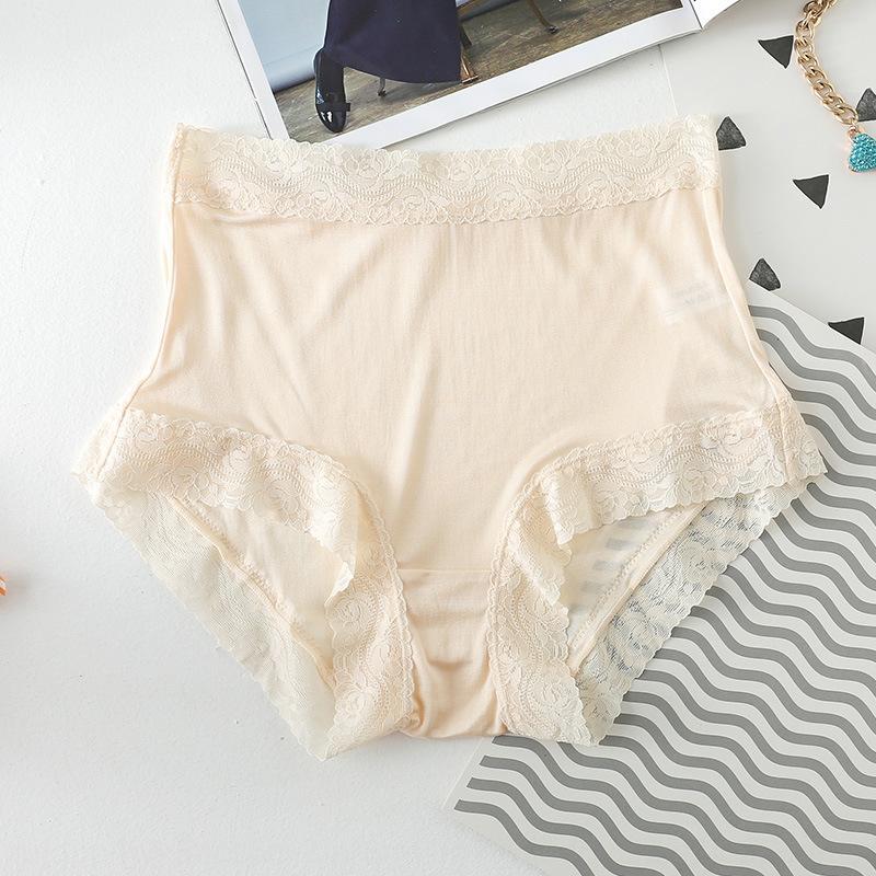 100 gelso pantaloni breifs seta di metà di-vita intima Lace pantaloni pancia delle donne dell'anno originale biancheria intima di pizzo qif delle donne respirabili