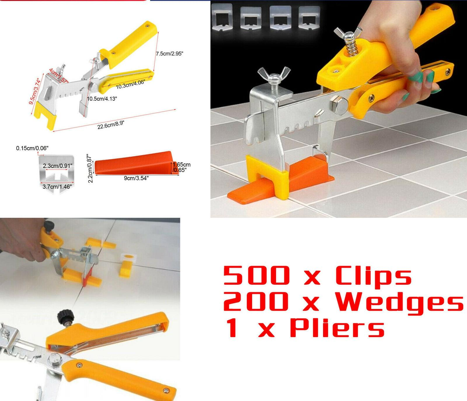701pc Clip Tile sistema di livellamento del Kit Pareti 1,5 millimetri Tile Spacer rivestimenti Tool Set
