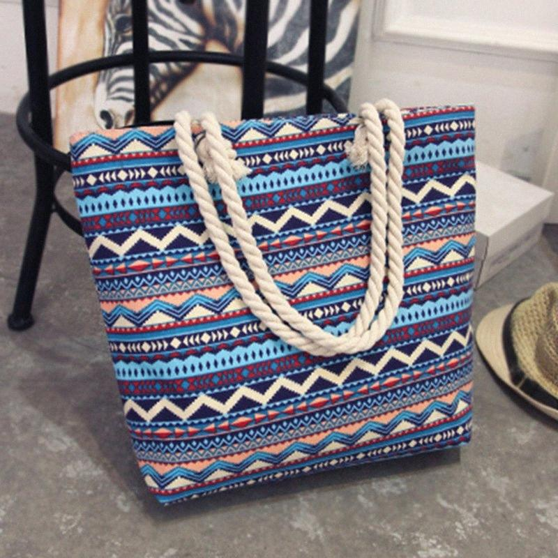 2020 Marca New Summer Fashion Folding Mulheres Handbag Tote ocasional das senhoras impressão flor Canvas Graffiti ombro Luxo Saco da praia G47J #