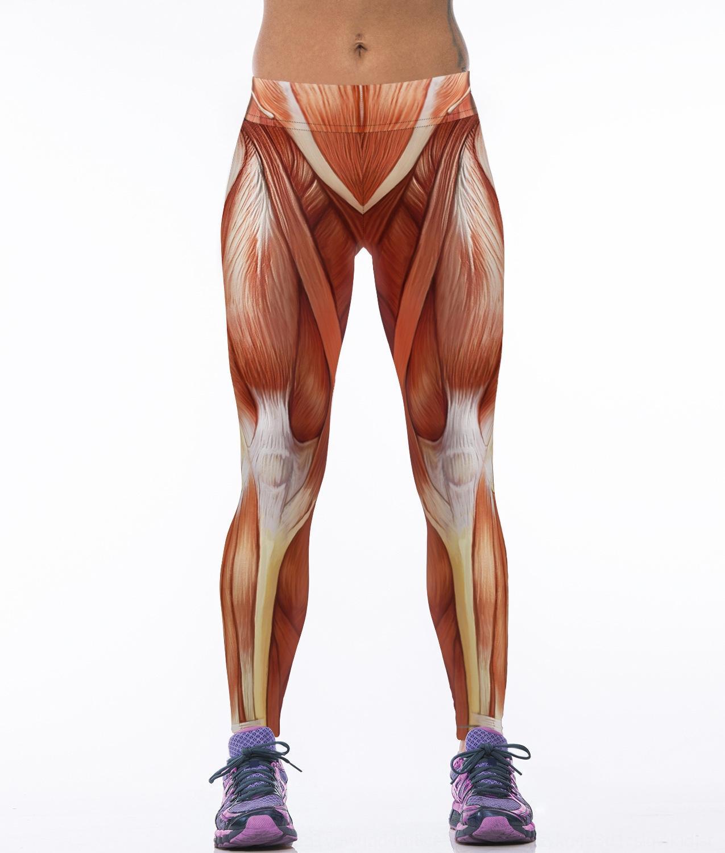 Мышцы фитнес обучение спорт растягивать цифровых печатных йога женщин высокой талии леггинсы узкие брюки йоги узкие брюки