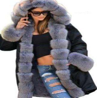 Casacos quentes de espessura de pele do inverno Designer gola do casaco Coats camuflagem militar do exército para baixo Parkas Mulheres Long Down