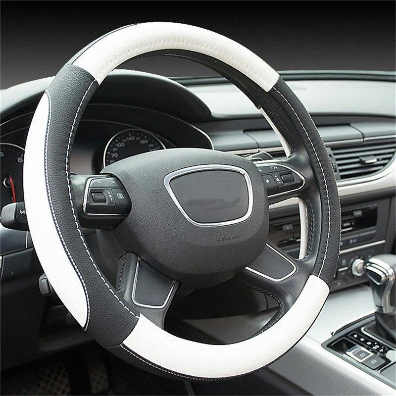 Car Steering Wheel Cover auto universale in pelle del volante Covers Anti Slip Automotive Accessori Pile COPRIVOLANTE Flo AZTI #
