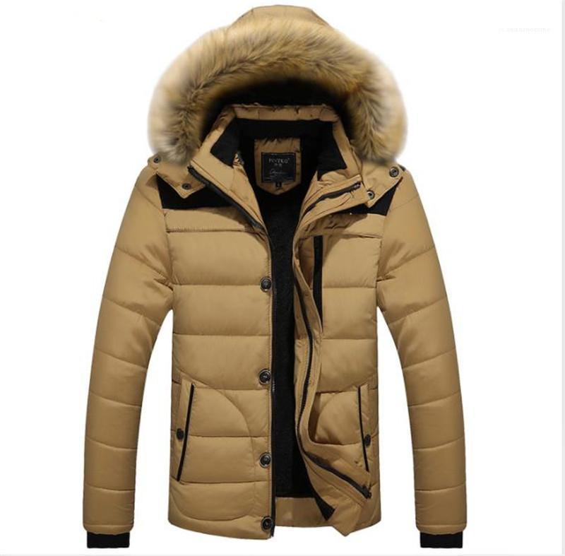 Parkas Luxus-Pelz-Kragen-beiläufige Mäntel Mode Mens Designer Winterjacke Designer Plus Size Warm