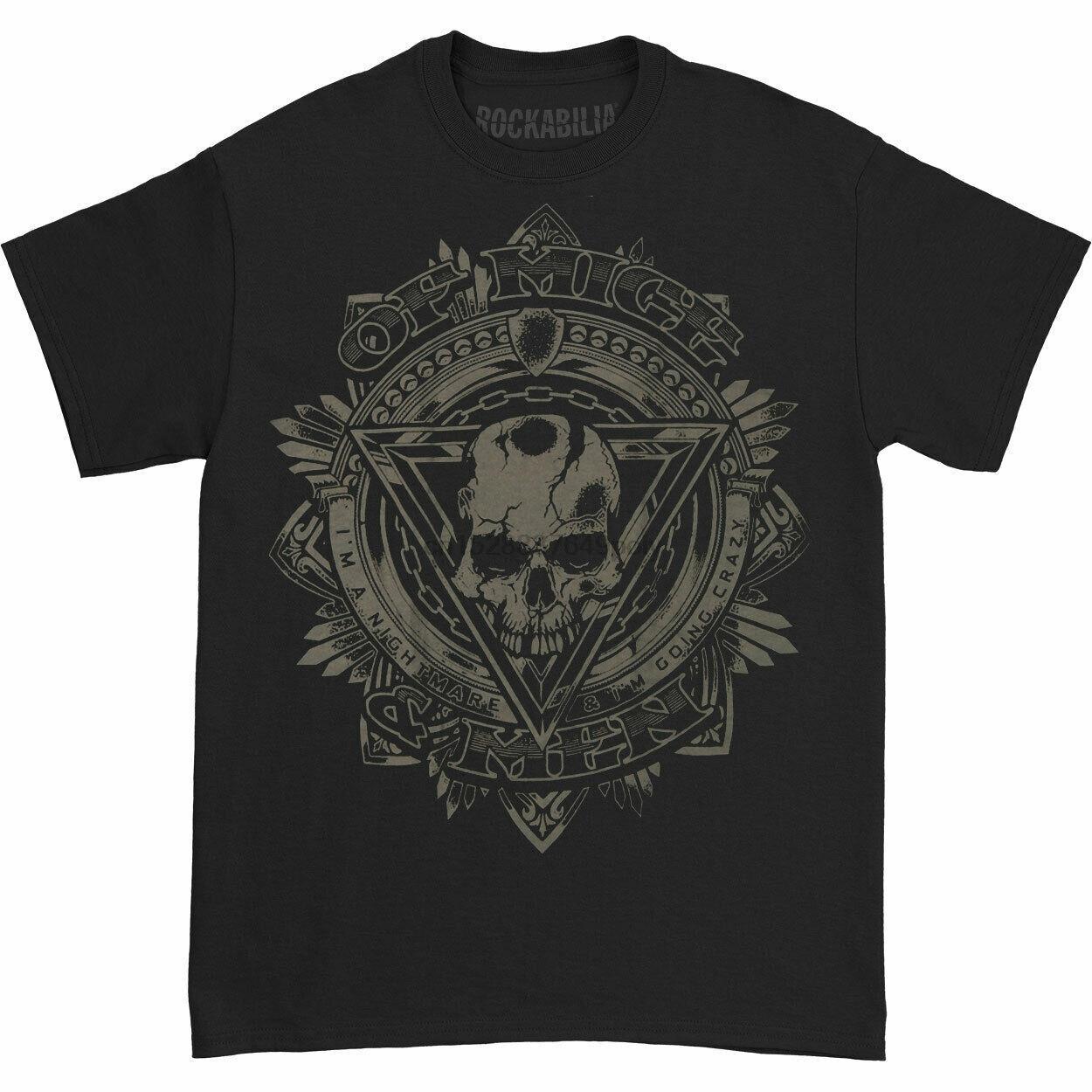 Of Mice & Men Herren Mitteilung T-Shirt Small Black