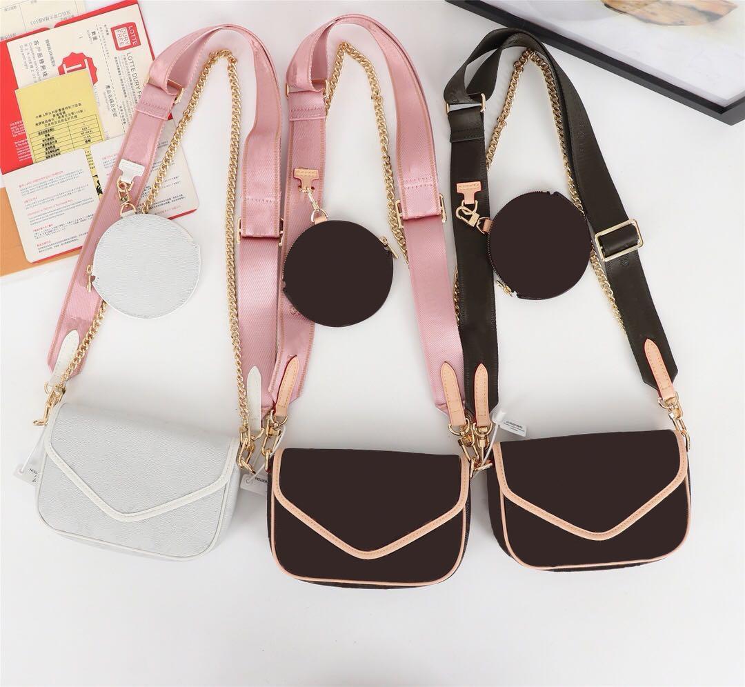 2020 عالية الجودة حقيبة يد مصمم الفاخرة حقيبة جلد طبيعي متعدد Pochette موجة جديدة حقيبة الكتف رسول حقيبة CROSSBODY shiping مجانا