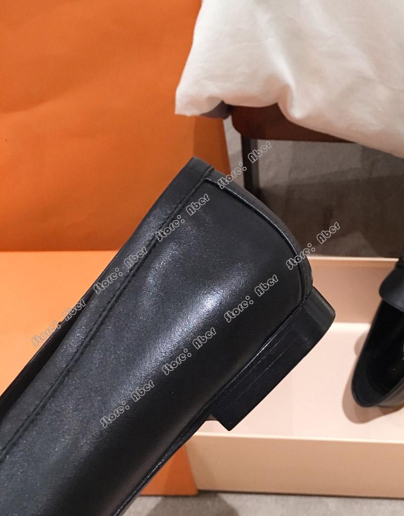 Aber TOP simples de la mode Décoration Metal unique européen et British American femmes qualité Heels épais peu profonde mince boucle chaussures de sport