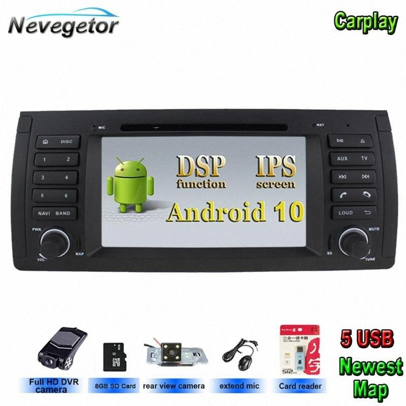 DSP Android 10 IPS Car Multimedia Player 1 Din For E39 X5 E53 WiFi Bluetooth GPS Radio Stereo Car Dvd Any Dvd Player Auto Portable Dvd 75Go#